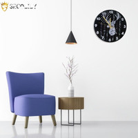 Retro Industrial Style Wall Hanging Clock Round Silent Clocks Hom NA10