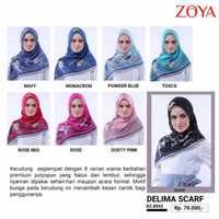 SS NEW ARRIVAL Zoya Delima Scarf - Kerudung Segiempat Motif - Hijab Mu