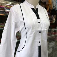 perempuan dewasa baju tunik muslim santri putri remaja putih ODYS