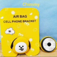 Pet BTS BT21 Ring Holder Handphone Bentuk Balon Air Bag Pegangan HP