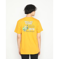 Kaos Pria Erigo T-Shirt Dallas Stars Cotton Combed Mustard - S