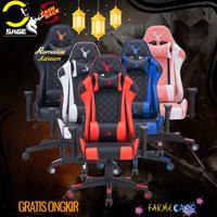 Grosir KHUSUS GOJEK SAGE Gaming Chair Kursi bangku game 180 derajat -