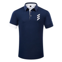 Tempat Musim Panas Pakaian Golf Pria Lengan Pendek T-shirt Kemeja