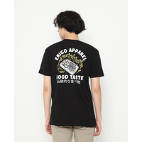 Kaos Pria Erigo T-Shirt Sushi Taste Cotton Combed Black