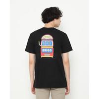 Kaos Pria Erigo T-Shirt Erigo Jackpot Cotton Combed Black
