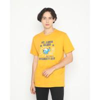 Kaos Pria Erigo T-Shirt Louis Blues Cotton Combed Mustard - M