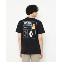 Kaos Unisex Erigo T-Shirt Erigo Classic Cotton Combed Black - S