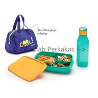 Tupperware Cool Teen New free TAS BEKAL paket bekal anak plus tas BIRU