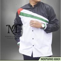IdMarko Baju Koko Palestina Lengan Panjang Pria Cowok Laki laki