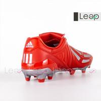 Sepatu Bola Adidas Predator Mania Leather FG Red Silver