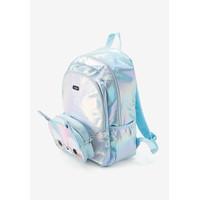 Justice Girls Pastel Llama Backpack & Crossbody - Tas Ransel Anak