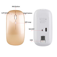 QQMALL Optical Ultra-Thin Silent Mute For PC Laptop Mouse