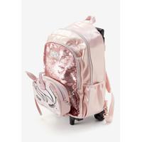 Justice Girls Rose Gold Unicorn Backpack & Crossbody - Tas Ransel Anak