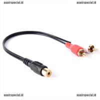RCA Female To 2 RCA Male Gold Plated Audio Adapter Y Splitt