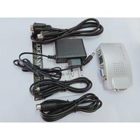 con VGA to RCA Switch Box PC to TV AV Monitor Composite S Video BLA341