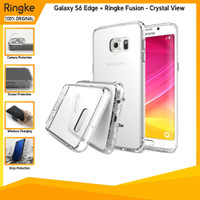 Ringke Galaxy S6 Edge + Fusion Crystal View Anti Crack Spigen Softcase