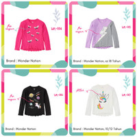 Perempuan Dingin 6-20 Katun Atasan Baju Kaos Justice Anak Lengan Tahun