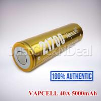 Baterai 21700 VAPCELL 40A 5000mAh Authentic