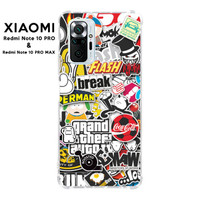Casing Case Xiaomi Redmi Note 10 PRO Max Softcase Anticrack Sticker 2