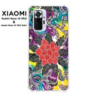 Casing Xiaomi Redmi Note 10 PRO Max Softcase Anticrack Batik Bunga 6