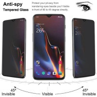 INS Full coverage AntiSpy Privacy Tempered Glass Samsung S8 S9