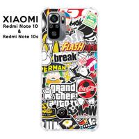 Casing Case Xiaomi Redmi Note 10 dan 10s Softcase Anticrack Sticker 2