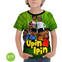 Kaos Upin Ipin 3D Baju Anak 3D Printing #COWO-377