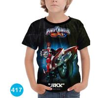 Kaos Power Rangers 3D Baju Anak 3D Printing #COWO-417 - No.0(6bln-1thn)