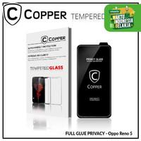 Oppo Reno 5 - COPPER Tempered Glass PRIVACY ANTI SPY