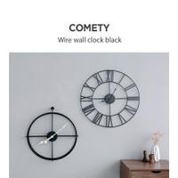 Industrial Design Wire Wall Clock Modern Design Korea Shipping NA10