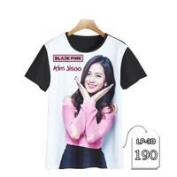 Kaos Anak Blackpink Jisoo 3D Series Baju Kpop Korea Trendy #LP3D-190 - S (Umr 1-2 thn)