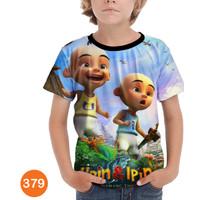 Kaos Upin Ipin 3D Baju Anak 3D Printing #COWO-379