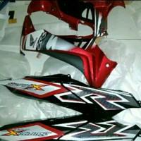 Murah TERBARU Cover body sayap komplit supra x 125 merah hitam