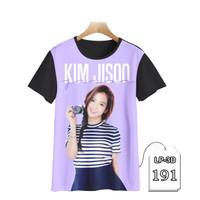 Kaos Anak Blackpink Jisoo 3D Series Baju Kpop Korea Trendy #LP3D-191 - S (Umr 1-2 thn)