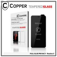 Realme 5 - COPPER Tempered Glass PRIVACY/ANTI SPY(Full Glue)