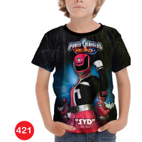 Kaos Power Rangers 3D Baju Anak 3D Printing #COWO-421 - No.0(6bln-1thn)