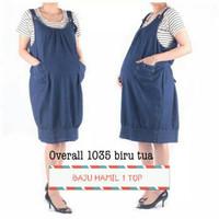 Dijual Baju Hamil Overall Bahan Denim 1035 Berkualitas