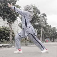 Olahraga Muslimah Trening Kaos Celana Panjang Rok Training Baju Muslim