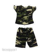 Trendy Dolls T-shirt Pants Set with Camo Pint for 18'' AG American