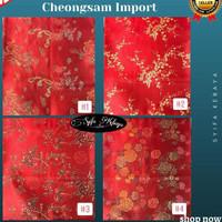 Terbaru Congsam Cheongsam MR98 Ceongsam Imlek Chongsam Baju Motif Baha