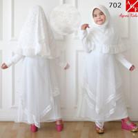 Syari Anak Gamis Anak Brukat Cewek Putih Agnes Pesta Baju Baju Umroh 7