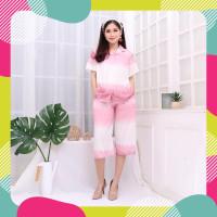 Rayon tidur Amro piyama dewasa midi celana Setelan Premium Baju 7 8 Ba