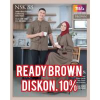 Nibras Brown fitri Koko NSK Couple 2021 NBA 88 idul baju Maroon 88 gam