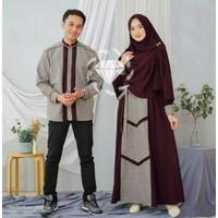 Couple Pasangan 19852 Baju Gamis Brukat Kapelan œ…COD Muslim Syari