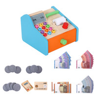Anne Wooden Cash Register Shop Grocery Checkout Play Game Learn E