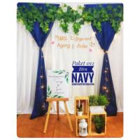 lamaran Backdrop aqiqah Tunangan photobooth background Dekor 012 nikah
