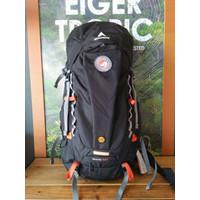 Tas Ransel Hiking/Carrier EIGER RHINOS 1241 60L Black + Rain Cover