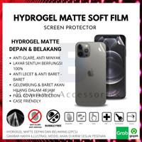 ANTI GORES HYDROGEL MATTE iPhone X DEPAN BELAKANG FULL COVER