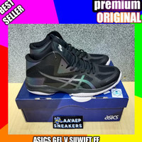 Jual sepatu volly asics gel v suift ff black _premium original Diskon
