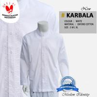 Baju muslim koko lengan Panjang terbaru seragam Baju Koko Putih Baku b